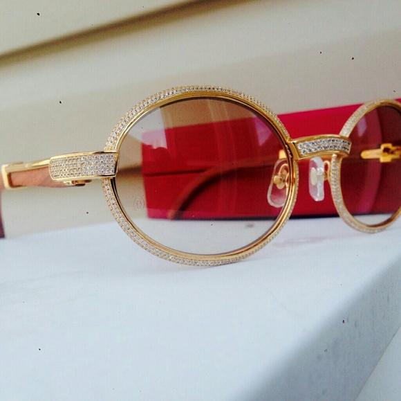 95ad7f1e958 Custom iced out vintage Cartier sunglasses